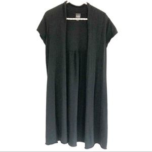 {EILEEN FISHER}Black Silk Cashmere Duster Cardigan
